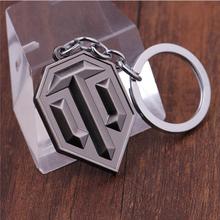 Drop Shipping Llaveros Keyring Metal Alloy World of Tank Key Holder Chaveiro WOT Logo Key Chains Top Grade For Women And Men