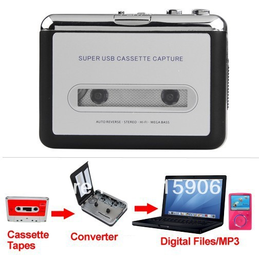 USB Audio Cassette Tape Converter to MP3 CD Player PC(China (Mainland))