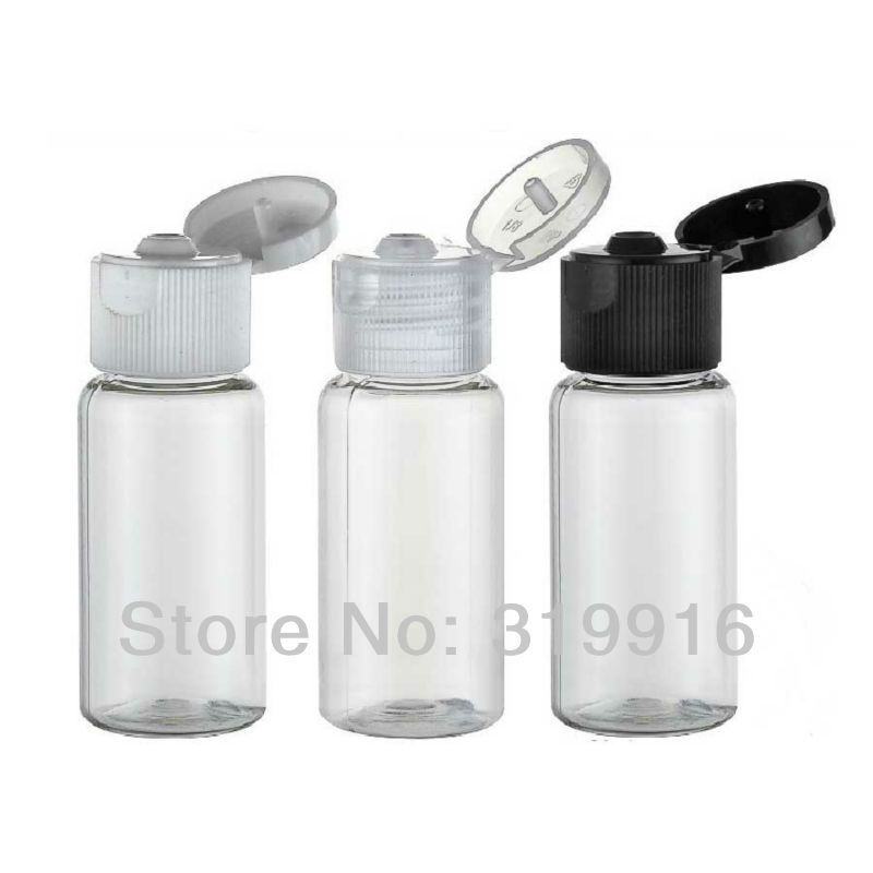 Free shipping 15ml transparent plastic travel containers bottle with flip top    100pc/lot<br><br>Aliexpress