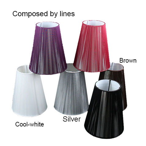15cm Modern black white red brown Pull line Fabric wall light lamp shades, E14(China (Mainland))