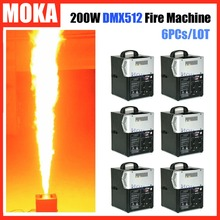 6 Pcs/lot Hot stage fire flame machine dmx512 control artificial projector outdoor nightclub dj Equipment - MOKA STAGE LIGHT & FX store