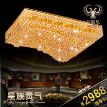 Luxury quality gold crystal lamp ceiling light fitting 9837(China (Mainland))