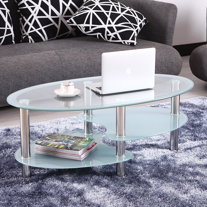 Ikea Shipping Stylish Minimalist Modern Living Room Sofa Table Glass Oval Coffee Table Small