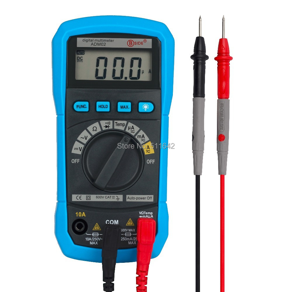 Bside ADM02 Auto Range Digital Multimeter DMM DC AC Voltage Current Temperature Meter Tester Diode(China (Mainland))
