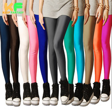 New autumn 2014 Solid candy Neon legging for women High Stretched sports leggings pants fitness clothing leggins legings(China (Mainland))