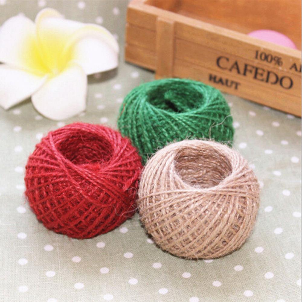 Jute Twine Burlap String Hemp Rope Wedding Gift Natural Wrapping Cords Thread 30 M(China (Mainland))