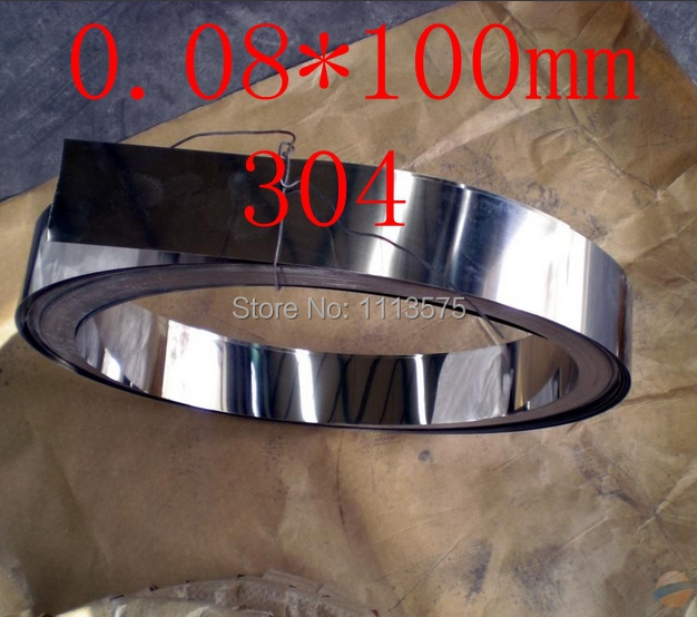 Гаджет  0.08 thickness 0.04*100mm authentic 304 321 316 stainless steel col rolled bright thin foil tape strip sheet plate coil roll None Строительство и Недвижимость