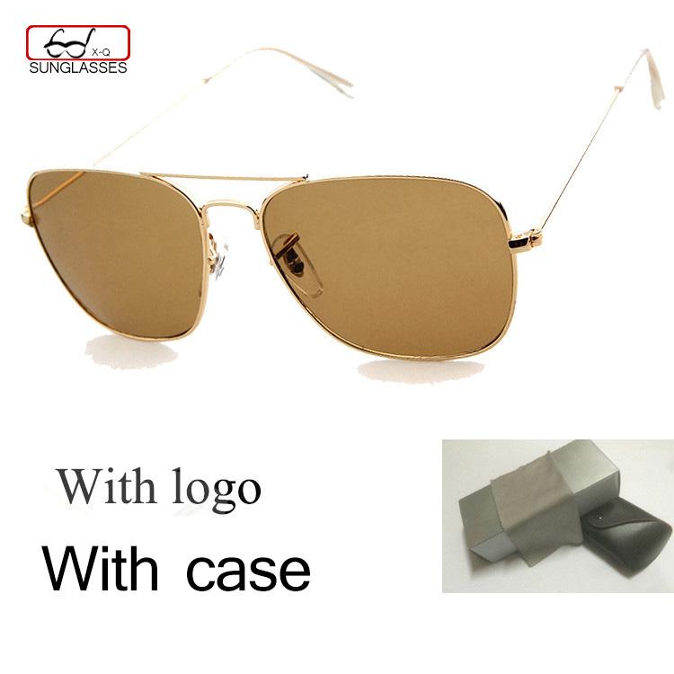 United States Hot Selling Aviator Sunglasses Men's/Womens brand Designer Gold Metal Sun glasses Green G15 Lens Original Box logo(China (Mainland))