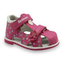 Apakowa הקיץ קלאסי אופנה ילדי נעליים לפעוטות בנות סנדלי ילדי בנות עור מפוצל סנדלי פרפר עם קשת תמיכה(China)