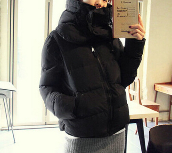 2015 New Parkas Female Women Winter Coat Removable Sleeve Thickening Warm Cotton Winter Jacket Womens Outfits Parkas G104-197