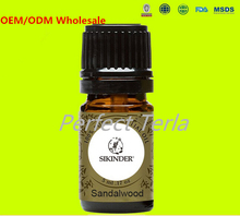 1000 Pieces/lot 100% Pure Sandalwood Aromatic Essential Oil Natural Aromatherapy SPA Massage Oils OEM/ODM Accept(China (Mainland))
