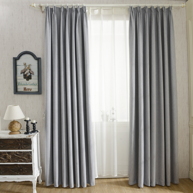 the bedroom faux linen modern curtains for living room window curtains