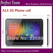 "DHL Free shipping Cheapest 2G Phone Call 7"" Allwinner A13  Bluetooth android 4.0 Capacitive Screen Dual Camera WIFI tablet pc(China (Mainland))"