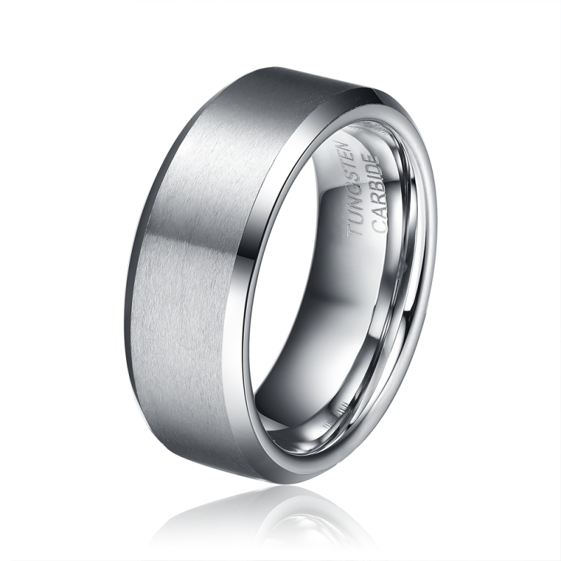 Fathers Day Gift Big Deal 8MM Men 39 S Tungsten Carbide Wedding Engagement B