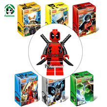 Deadpool 6 Minifigures Origianl Box Decool Action Toys Figure Blocks Avengers Figures Collection Model Building Toy