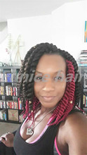 Short 12 Inches Eunice Brand Havana Mambo Twist 12roots/piece Crochet Braids Synthetic African Hair Braiding Free Shipping