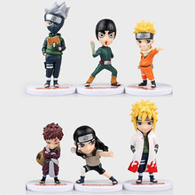 Buy Free 6pcs Full Set Q Edition Naruto Anime Action Figures Collection PVC Naruto Figures Model toy Set Action Figure Toys for $14.46 in AliExpress store