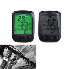 2015 Outdoor wireless Waterproof Function LCD Bike Bicycle Cycling Computer Odometer Speedometer Backlight Backlit Computer