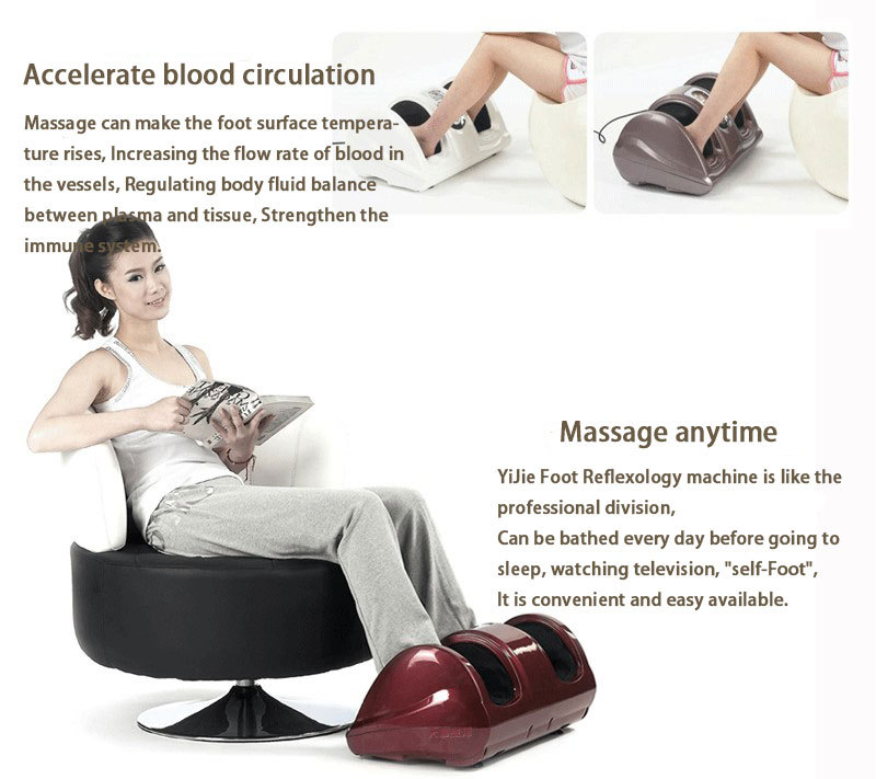Shiatsu Kneading and Rolling Foot Massager Personal Health Studio w/ remote control YIJIE(China (Mainland))