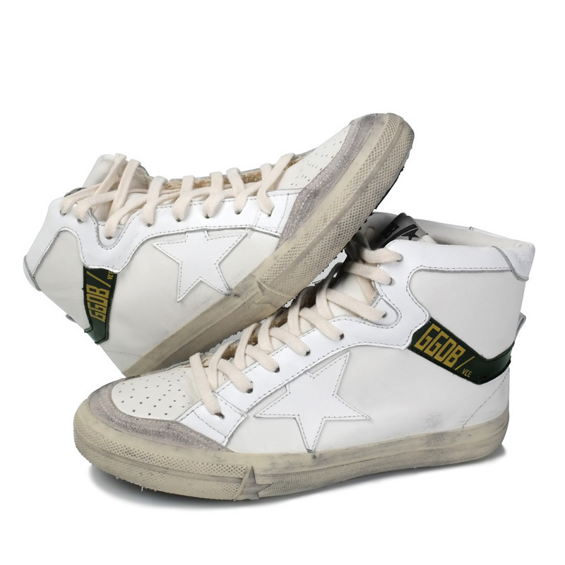 Italy new arrival brand golden goose sneakers men fashion casual GGDB Genuine Leather white High Top