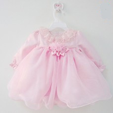 1 year old baby dress frock designs girl christmas first birthday party baptism pink long sleeve dress vestidos clothes 80027<br><br>Aliexpress