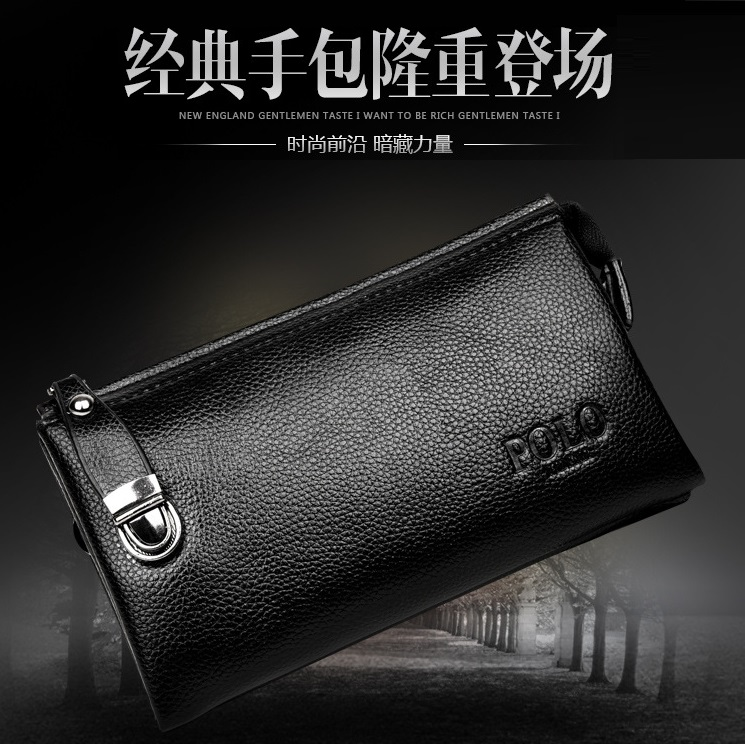New arrival Men wallet zipper pocket male clutch multifunction pu leather wallets long cellphone bag big capacity free shipping(China (Mainland))