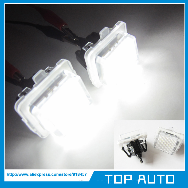 1Pair Error Free SMD LED Number License Plate Light Kit for Mercedes W204 W212 C207 C216 W221(China (Mainland))