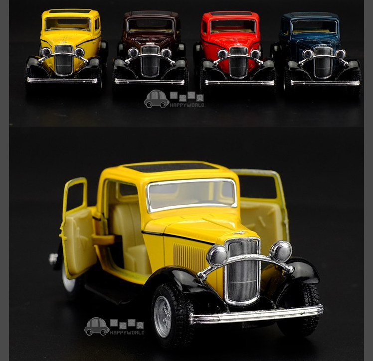 Deals Antique Classic Car 1:34 scale alloy pull back model car, Retro Diecast cars toy,Children's gift(China (Mainland))