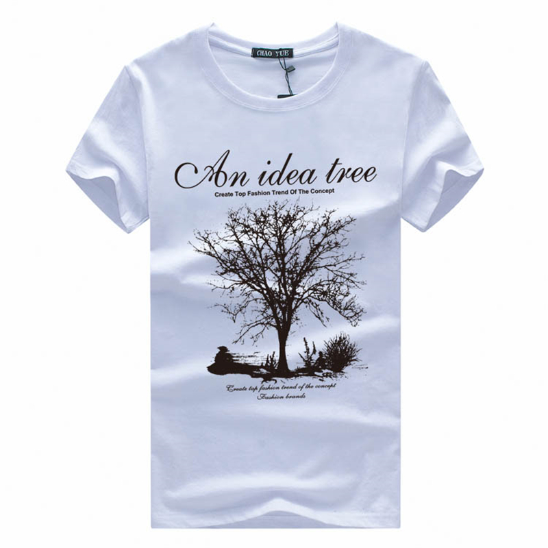 Brand New Summer Men t shirts 2016 Fashion Wishing Tree Print Men Cotton T shirt Sexy Man Clothing Casual tees Boy Hip Hop Tops(China (Mainland))