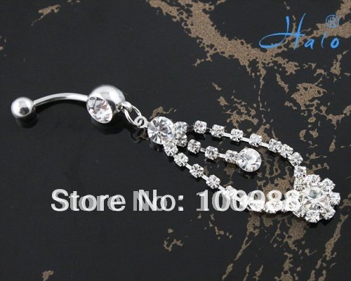 Free Shipping 12pcs/lot Fashion Body Piercing Jewelry Belly Piercing Ring BJ00342