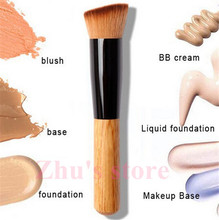 1 Pcs New Professional Cosmetic Foundation Makeup Brushes Wooden handle Concealer Tools Free Shipping Y651-B