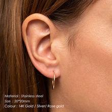 E-manco grandes brincos de argola para mulheres brincos de argola de aço inoxidável grande anéis de orelha huggie círculo brincos de moda jóias(China)