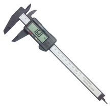 150mm 6inch LCD Digital Electronic Carbon Fiber Vernier Caliper Gauge Micrometer free shipping(China (Mainland))