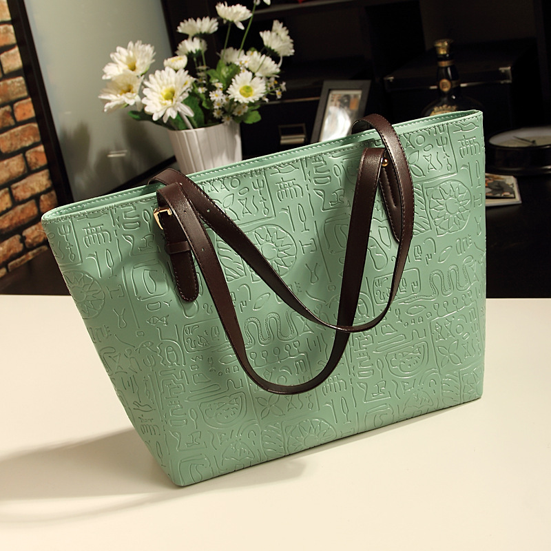 2015 tote leather bags woman lady handbag fashion PU bus handbag messenger bag(China (Mainland))