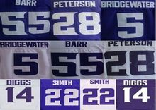 28 Adrian Peterson shirts Jersey 5 Teddy Bridgewater 11 Laquon Treadwell 55 Anthony Barr 22 Harrison Smith jersey,(China (Mainland))