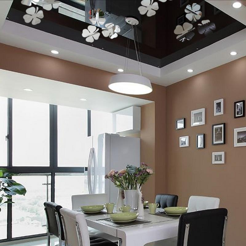 Online kopen wholesale klavertje vier achtergronden uit china klavertje vier achtergronden - Driedimensionale spiegel ...