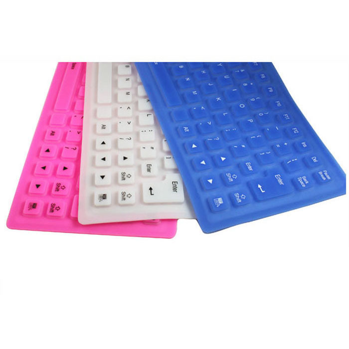 New Arrival Soft roll-up Flexible Silicone Keyboard For PC Free shipping &wholesale(China (Mainland))