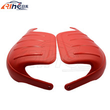 Red Universal Plus Size motorcycle motocross handguards mx hand guard windproof wind proof potective gears motor protect ATV