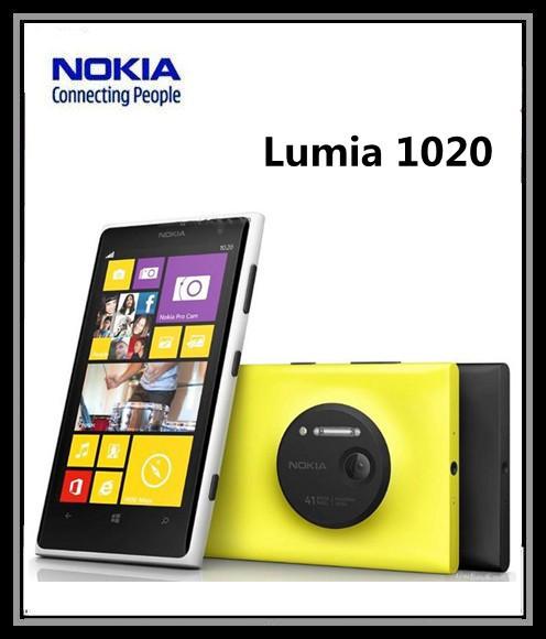 "Original Refurbished Unlocked Nokia Lumia 1020 Windows Phone 8 Dual Core 4.5"" 32G ROM 41MP NFC Bluetooth 3G / 4G Cellphone(China (Mainland))"