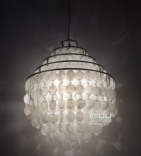 EMS FREE SHIPPING pendant light lamps 50CM Shell restaurant bedroom lamps and lanterns of creative study five layer(China (Mainland))