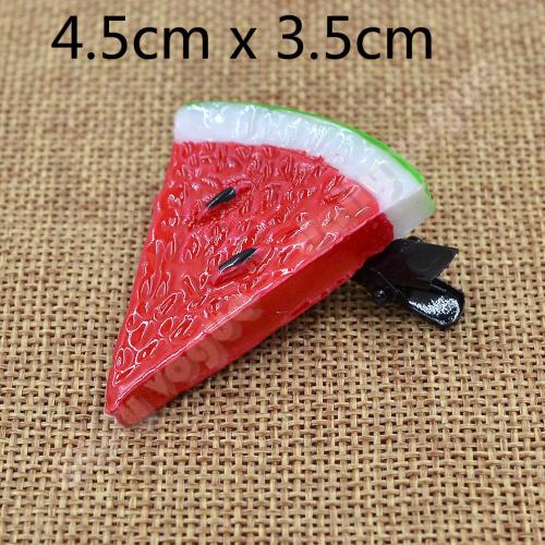 1 piece cute girls kawaii hair clip resin decorative watermelon hair pin(China (Mainland))