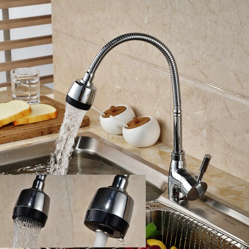 Deck mount swivel spout kitchen sink faucet deck mount - Kitchen sink water hose ...
