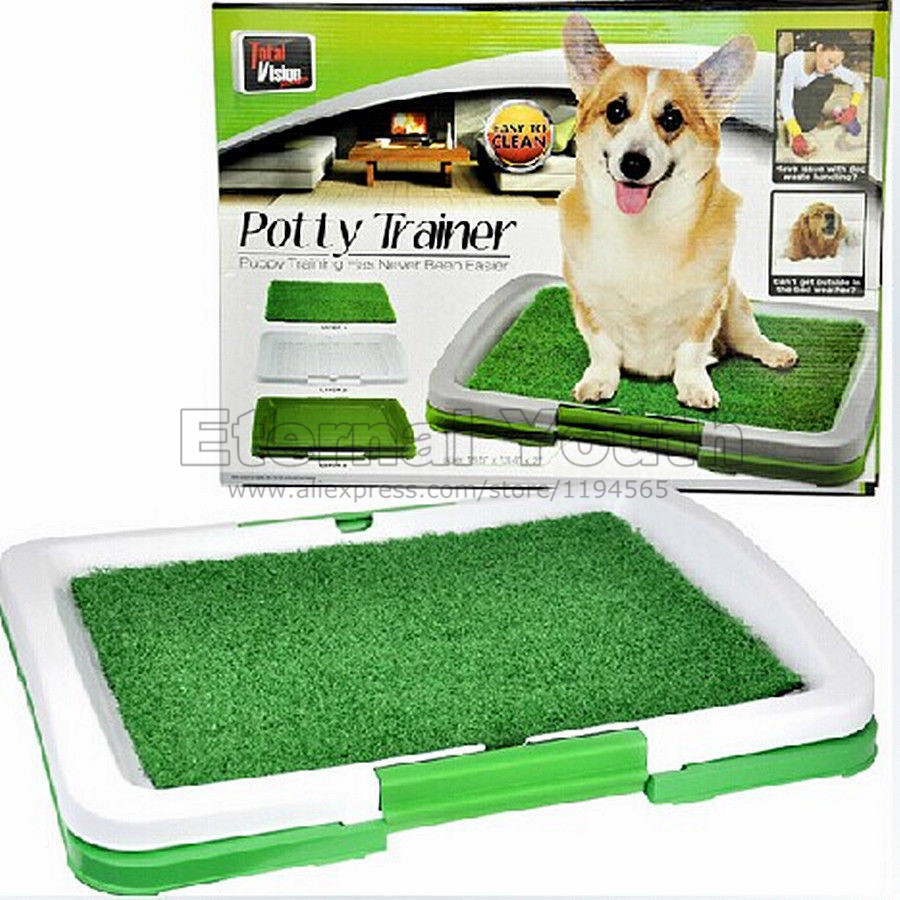 Portable Indoor Pet Dog Toilet Training Puppy Potty Pad Tray Loo(China (Mainland))