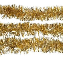 NFLC 2m (6.5 Ft) Christmas Tinsel Tree Decorations Tinsel Garland (gold)