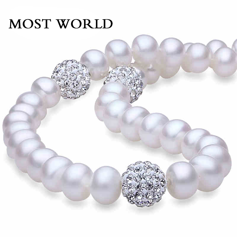 MOST WORLD bijoux 8/9 necklace18inch most world 8 5 9 925 earringpearl