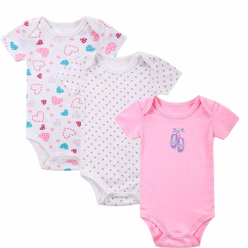 100% Cotton Baby Bodysuit 3pieceslot Newborn Cotton Body Baby Short Sleeve Underwear Next Infant Boy Girl Pajamas Clothes