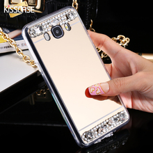 Buy KISSCASE J5 2016 Luxury Mirror Cover Fashion Bling Crystal Diamond Mobile Phone Case Samsung Galaxy J5 2016 J510 J510F Women for $2.45 in AliExpress store