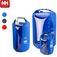 Wholesale Naturehike New Brand Multi-functional Rafting Bag Waterproof Bag Dry Bag Swim 5L 20L 60L NH15S005-D Black