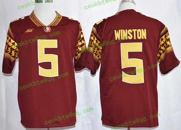 Top A Best quality 100% Stitiched,high quality,Florida State Seminoles,FSU,#Deion Sanders,#5 Jameis Winston,#80 Rashad Greene(China (Mainland))