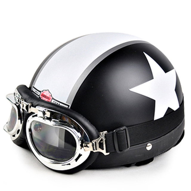2016 New Motorcycle & Motorcycle Open Face Half Racing Helmet & Goggles & Visor fit 54-60cm A1-A20